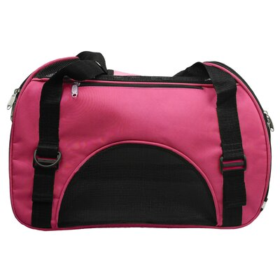 Turton Pet Carrier Size: Large (13 H x 9.6 W x 21 L), Color: Pink