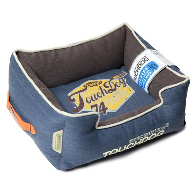 Original Sporty Vintage Throwback Reversible Plush Rectangular Dog Bed Size: Large (25.6 L x 21.7 W), Color: Dark Blue