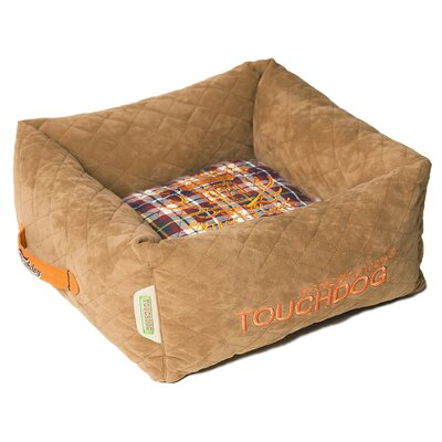 Exquisite-Wuff Posh Rectangular Diamond Stitched Fleece Plaid Dog Bed Size: Large (23.6 L x 23.6 W), Color: Light Brown