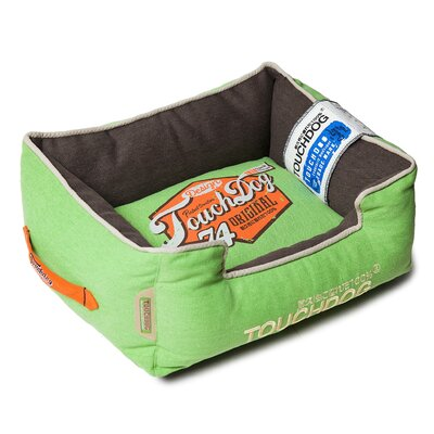 Original Sporty Vintage Throwback Reversible Plush Rectangular Dog Bed Size: Medium (21.7 L x 17.7 W), Color: Green