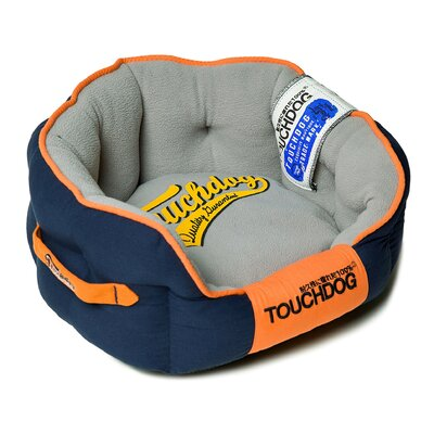 Original Castle-Bark Ultimate Rounded Premium Dog Bed Size: Medium (21.7 L x 19.3 W), Color: Blue