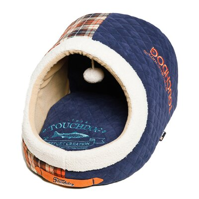 Diamond Stitched Active-Play Indoor Panoramic Designer Dog Bed Color: Dark Blue
