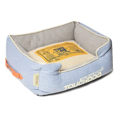 Original Denim Classical Rectangular and Reversible Dog Bed Color: Blue