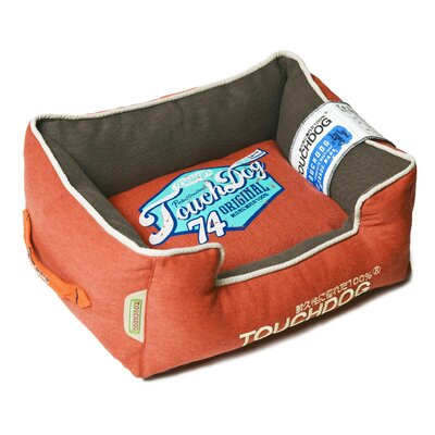 Original Sporty Vintage Throwback Reversible Plush Rectangular Dog Bed Size: Large (25.6 L x 21.7 W), Color: Orange