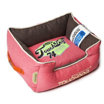 Original Sporty Vintage Throwback Reversible Plush Rectangular Dog Bed Size: Medium (21.7 L x 17.7 W), Color: Pink