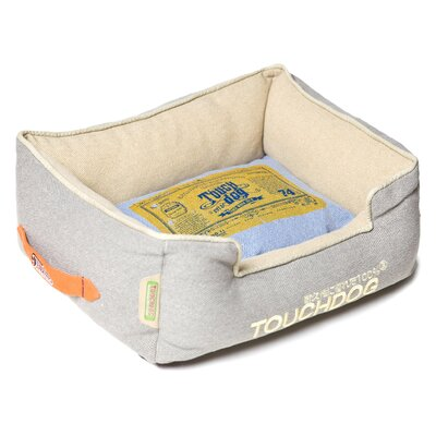 Original Denim Classical Rectangular and Reversible Dog Bed Color: Gray