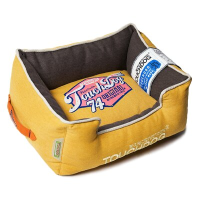 Original Sporty Vintage Throwback Reversible Plush Rectangular Dog Bed Size: Medium (21.7 L x 17.7 W), Color: Yellow