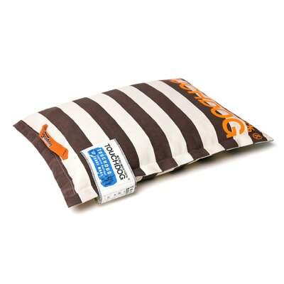 Polo-Zippered Insertable and Removable Pillow Dog Bed Size: Extra Large (33.5 L x 23.6 W), Color: Brown