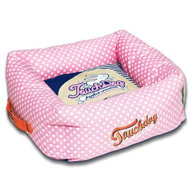 Polka-Striped Polo Easy Wash Squared Fashion Dog Bed Size: Medium (19.7 L x 19.7 W), Color: Pink