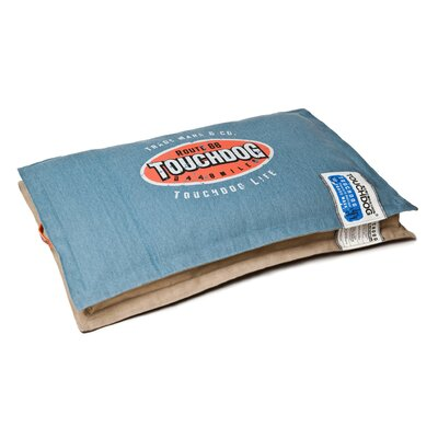 Sporty Shock-Stitched Reversible Rectangular Thick Dog Mat Size: Large (31.5 L x 19.8 W), Color: Blue