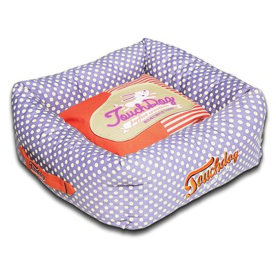 Polka-Striped Polo Easy Wash Squared Fashion Dog Bed Size: Medium (19.7 L x 19.7 W), Color: Purple