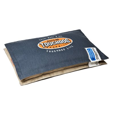 Sporty Shock-Stitched Reversible Rectangular Thick Dog Mat Size: Extra Large (35.4 L x 23.4 W), Color: Dark Blue