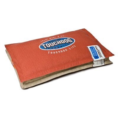Sporty Shock-Stitched Reversible Rectangular Thick Dog Mat Size: Large (31.5 L x 19.8 W), Color: Orange