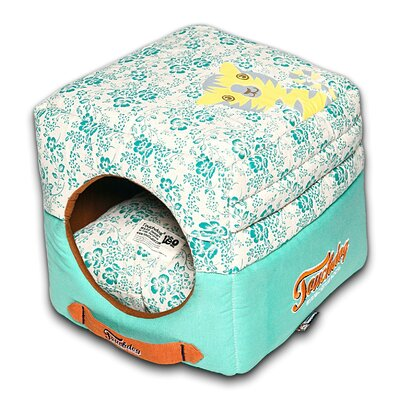 Floral Galore Reversible and Collapsible Dog Bed Color: Blue