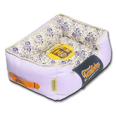 Floral-Galore Vintage printed Ultra-Plush Rectangular Designer Dog Bed Size: Medium (21.7 L x 17.7 W), Color: Purple