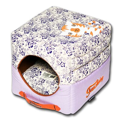 Floral Galore Reversible and Collapsible Dog Bed Color: Pink