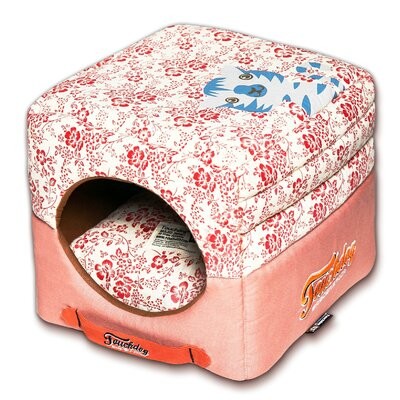 Floral Galore Reversible and Collapsible Dog Bed Color: Red
