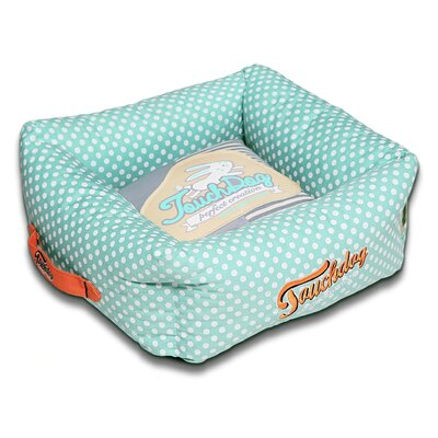 Polka-Striped Polo Easy Wash Squared Fashion Dog Bed Size: Medium (19.7 L x 19.7 W), Color: Blue