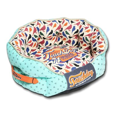 Chirpin-Avery Rounded Premium Designer Dog Bed Size: Medium (21.7 L x 19.4 W)