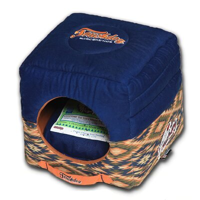 70s Vintage Tribal Collapsible Dog Bed Color: Blue