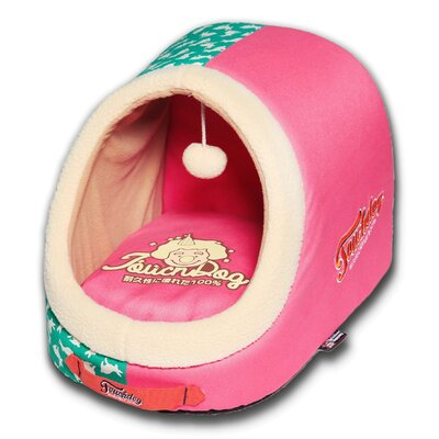 Rabbit-Spotted Active-Play Indoor Panoramic Designer Dog Bed Color: Pink
