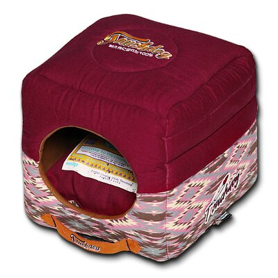 70s Vintage Tribal Collapsible Dog Bed Color: Pink