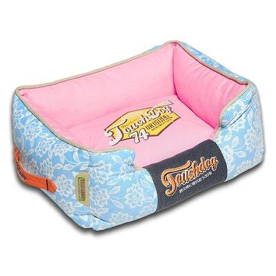 Rose-Pedal Patterned Premium Rectangular Dog Bed Color: Pink, Size: Large (25.6 L x 21.7 W)