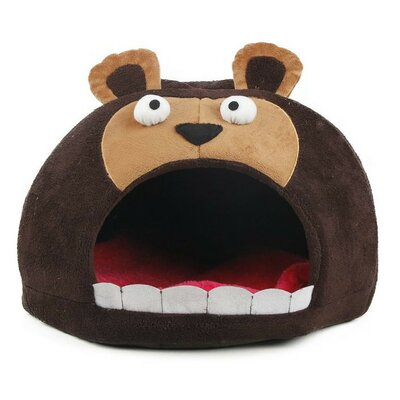 Davon Roar Bear Snuggle Plush Polar Fleece Pet Bed