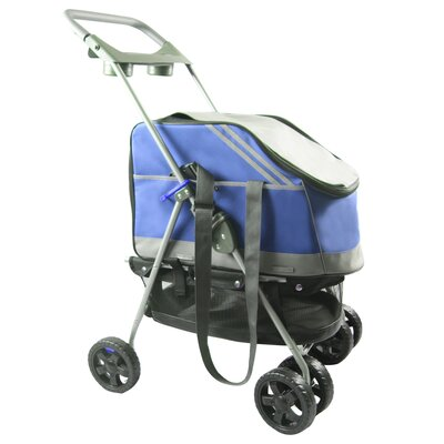 Outdoors Convertible Pet Stroller Color: Blue