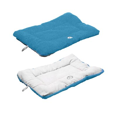 Eco-Paw Reversible Dog Mat Size: Medium (30 L x 20 W), Color: Light Blue and Aqua