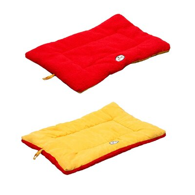 Eco-Paw Reversible Dog Mat Size: Large (36 L x 23 W), Color: Orange and Red