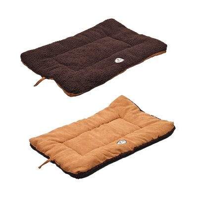 Eco-Paw Reversible Dog Mat Size: Medium (30 L x 20 W), Color: Brown and Cocoa