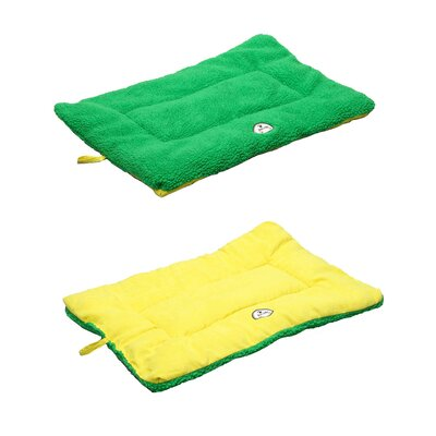 Eco-Paw Reversible Dog Mat Size: Medium (30 L x 20 W), Color: Yellow and Green