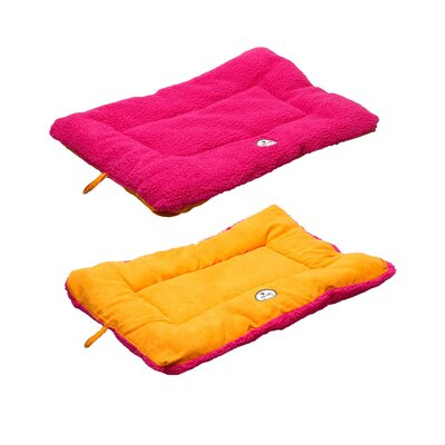 Eco-Paw Reversible Dog Mat Size: Large (36 L x 23 W), Color: Hot Pink and Orange