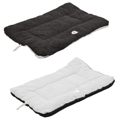 Eco-Paw Reversible Dog Mat Color: Black and White, Size: Medium (30 L x 20 W)