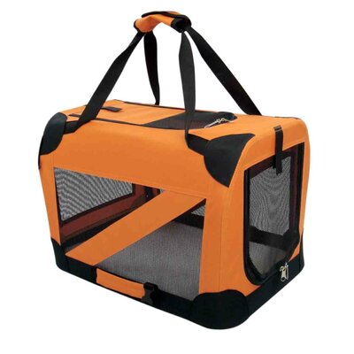 "Pet Life Zippered 360� Vista View Pet Carrier in Orange - Size: X-Small (13.5"" H x 13.5"" W x 19"" D) at Sears.com"
