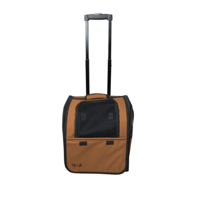 Airline Approved Wheeled Travel Pet Carrier Color: Brown
