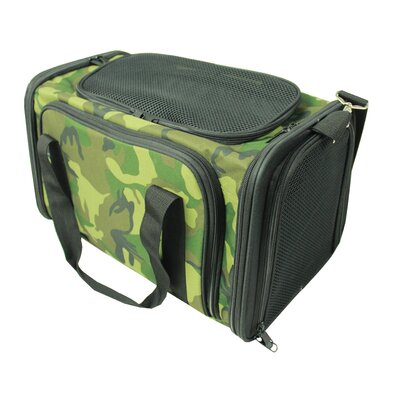 Lessie Folding Collapsible Airline Approved Pet Crate Color: Camouflage