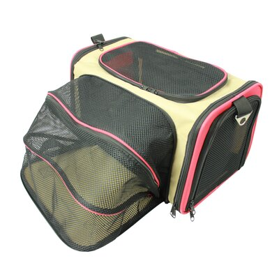 Lessie Folding Collapsible Airline Approved Pet Crate Color: Khaki