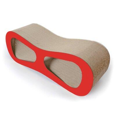 Laguerre Ultra Premium Modern Designer Lounger Cat Scratcher Color: Red