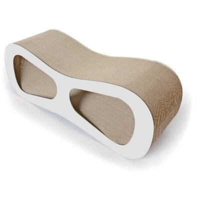 Laguerre Ultra Premium Modern Designer Lounger Cat Scratcher Color: White