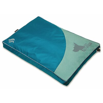 Dog Helios Aero-Inflatable Outdoor Camping Travel Waterproof Pet Bed Mat Cot Size: 18.89 W x 25.19 D, Color: Blue