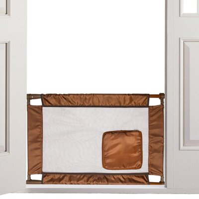 Pet Life Porta-Gate Travel Collapsible And Adjustable Folding Pet Cat Dog Gate Color: Brown