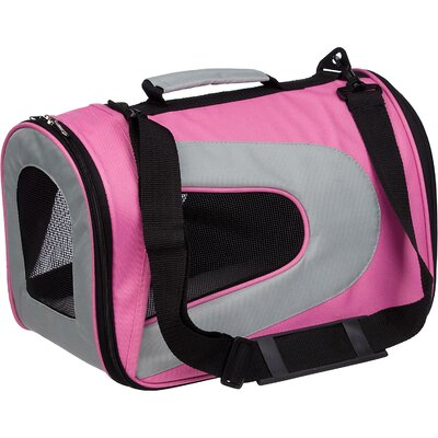 Holgate Zippered Sporty Mesh Pet Carrier Size: Large (10.5 H x 10.2 W x 18.1 L), Color: Pink
