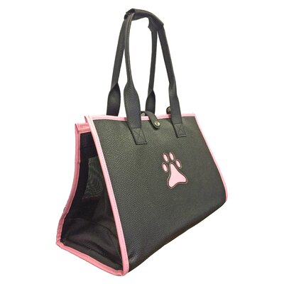 Delmont Posh Paw Pet Carrier Color: Navy Blue and Pink