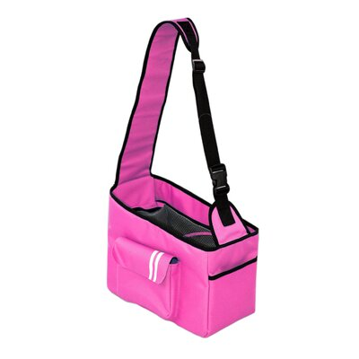 Summit Hands Free over the Shoulder Pet Carrier Color: Candy Pink