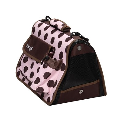 Airline Approved Designer Polka-Dot Pet Carrier Size: Large