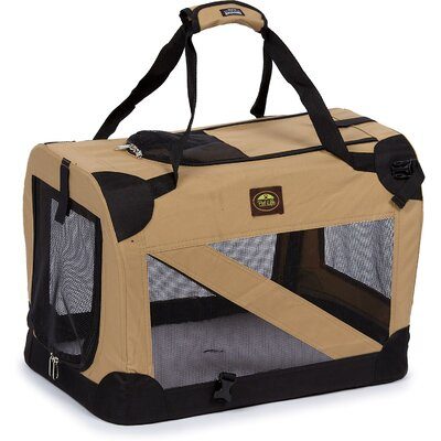 Zippered 360� Vista View Pet Carrier Size: Medium (20.5 H x 20.5 W x 27.5 L), Color: Khaki