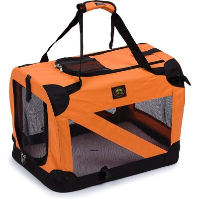 Zippered 360� Vista View Pet Carrier Size: Medium (20.5 H x 20.5 W x 27.5 L), Color: Orange