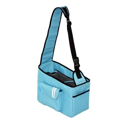 Summit Hands Free over the Shoulder Pet Carrier Color: Sea Blue